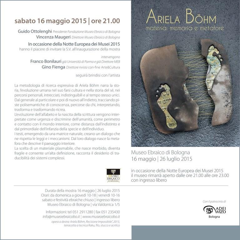 Invito Ariela Bohm