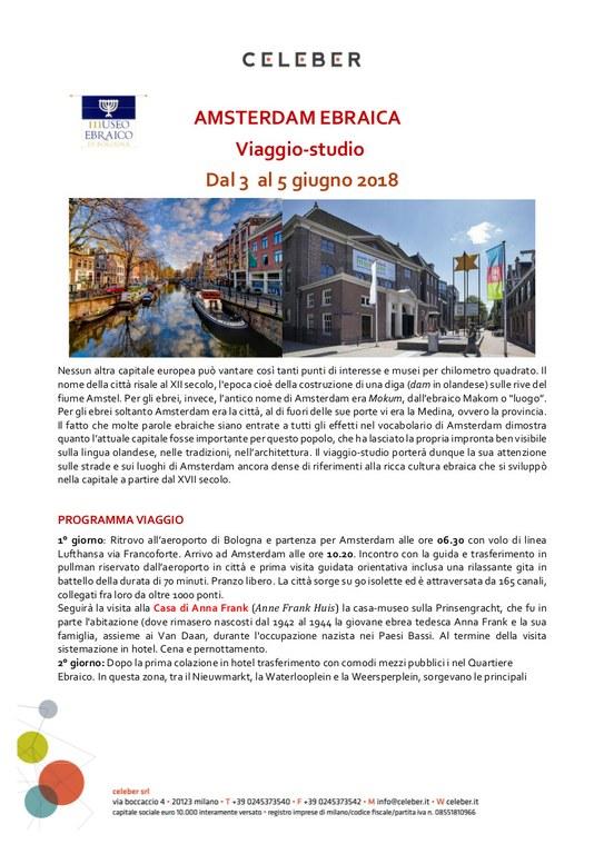 viaggio Amsterdam giugno 2018