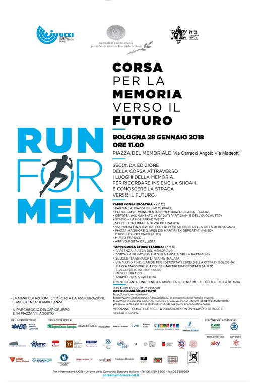 Volantino run for mem 2018